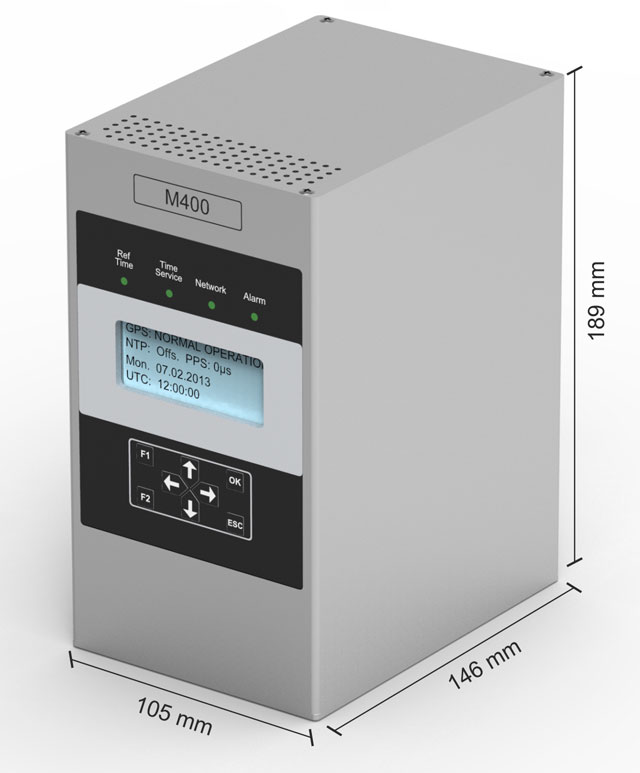 NTP Zeitserver LANTIME M400 mit LE-Display - Hutschienenmontage