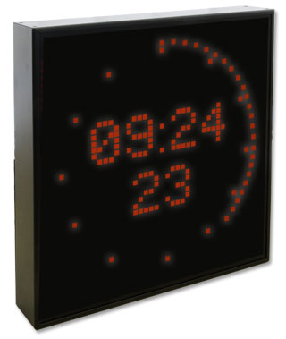 LED Large Display DU35S with LED circle round the display for showing the seconds