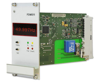 The module FDM511 was designed to calculate and monitor the frequency and its deviation in 50/60Hz power line networks.