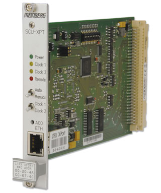 Switchcard for redundant GPS-based time synchronization solutions. Can be combined with two <a href='/english/products/gps170.htm'>GPS170 units to build a redundant system with remote monitoring and management features.