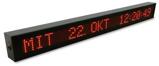 LED Large Display  VP100  optional as  NTP slave clock VP100NET